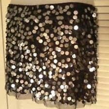 VTG 1990s WET SEAL Black LOW RISE Hip Hugger PAILETTE Sequin MiNi Skirt Size M