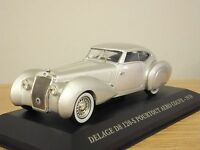 ATLAS EDITIONS DELAGE D8 120-S POURTOUT AERO COUPE SILVER CAR MODEL 1:43 GE14