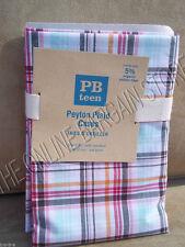 Pottery Barn Teen Peyton Plaid Bed Dorm Room Pillowcases Set 2 Pink Multi