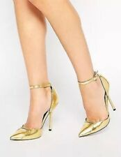 NEW! Heels by ASOS Collection GOLD High Heel Strappy Shoes RRP £55 Sz 7 Sold Out