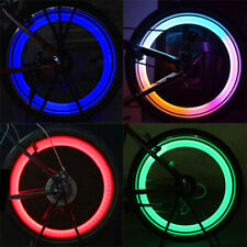 Luz Bicicleta Neumático de Bicicleta para CICLISMO habló Alambre Neumático Silicona Rueda LED colorida de película