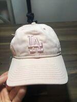 LA Dodgers 9TWENTY New Era Strapback Dad Hat Cap 1-Size Pink Go Dodgers! EUC!🔥