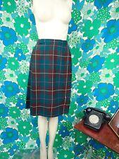 E28 Vintage St Micheals Kilt 1970's Size 6 Skirt Tarten Wool Blend