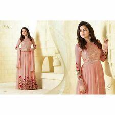 Stylish designer Peach partywear wedding anarkali salwar suit kameez dress gown