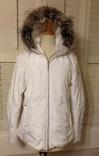 POSTCARD WOMENS MEDIUM LARGE FOX FUR DOWN SKI SNOWBOARD JACKET COAT SNOW WINTER