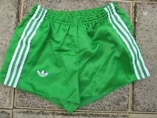Short ADIDAS vintage glanz nylon vert année 80 sport Ventex made in France 80 S