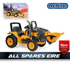 PEG PEREGO 12V JOHN DEERE CONSTRUCTION TRACTOR RIDE ON TOY BATTERY ELECTRIC