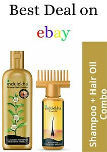 COMBO Indulekha Bringha Ayurvedic Anti Hair Fall Shampoo 100ml & Hair oil 50ml