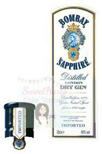 Bombay Sapphire Gin Bottle Labels Edible Icing Cake Topper Decoration