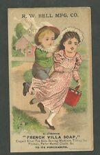 1880's Trade Card R.W. Bell MFG Co. French Villa Soap Buffalo New York