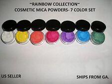 Rainbow Mica Powder Collection - Set of 7 colors - 3 gr. pots