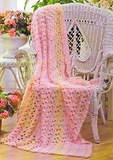 PRETTY Lace Fan Afghan/CROCHET PATTERN INSTRUCTIONS ONLY
