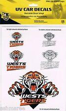 NRL Wests Tigers 5 UV Car Tattoo iTags Sticker Decals