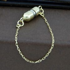 Genuine 18CT Yellow Gold Magnetic Clasp with Safety Chain