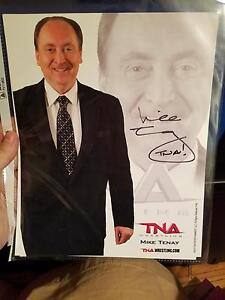 WCW Professor Mike Tenay Signed Official TNA Wrestling Promo Autographed Proof