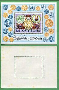 Lot of 21 1973 Liberia Souvenir Stamps C198 Cat Value World Health Org