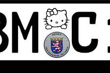 Kennzeichen ersatz Plakette Hello Kitty Stern Aufkleber