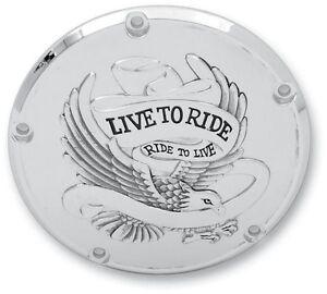 Live to Ride Derby Cover Drag Specialties Chrome 33-0065CA