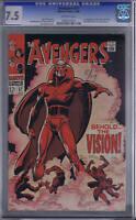 Avengers #57 Marvel 1968 CGC 7.5 1st S.A. Vision