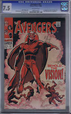 Avengers #57 Marvel 1968 CGC 7.5 (VERY FINE -) 1st S.A. Vision
