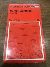 "1960s Old Vintage OS Ordnance Survey 1"" Map Sheet 98 Market Weighton"