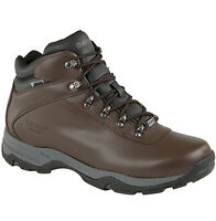 Mens New Hi-Tec Leather Trekking / Walking Hiking Trail Boots Sizes 6 - 14