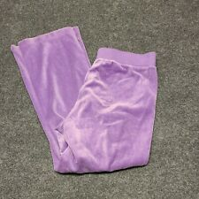 N.Y.L. Pull On Pants Purple Womens PXL Cotton Polyester Soft Velvet Feel Stretch