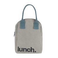 Fluf Zipper Lunch Bag | Reusable Canvas Lunch Box For Women, Men, Kids | Organic