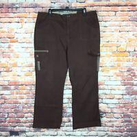 Bill Blass Womens Size 14 Stretch Brown Cargo Denim Jeans