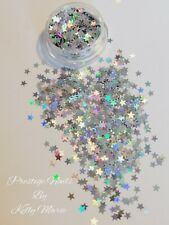 2ml Pot Silver Holographic Stars Craft Embellishment Shaker Card Table sprinkles
