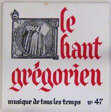 Musique de tous les temps 45 tours Le chant Grégorien