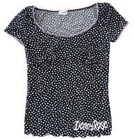 maglia t-shirt Denny Rose maniche corte short sleeves donna woman Pois Nera B...