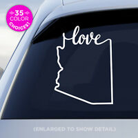 "Arizona State ""Love"" Decal - AZ Love Car Vinyl Sticker - Add a heart over a city"