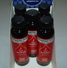 Lot Of 5 Aromar Fragrance Strawberry Melon Aromatic Oil 2.2 oz Each - New