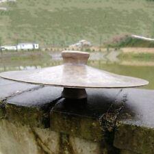 """11"""" Pair Tibetan Temple Ritual Bell Metal Bell Bronze Cymbals Hand Bell #1576"""