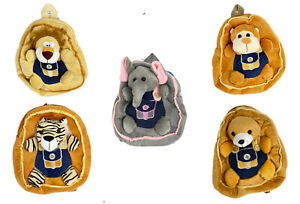 Animal Nursery Backpack Plush Children Bag School Elephant Tiger Monkey Bear