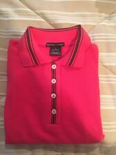 Basics @ Sharagano pink Cotton polo. Women's Size M. New w/ tags