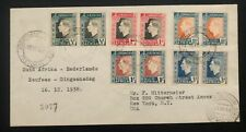 1938 Pretoria South Africa Cover To New York USA King George VI Coronation