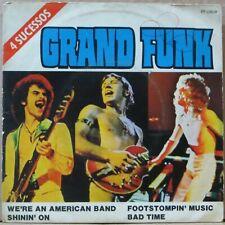 """GRAND FUNK RAILROAD 1975 """"4 SUCESSOS"""" UNIQUE EDITION! P/S 7"""" EP 45 BRAZIL"""