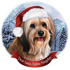 Holiday Pet Gifts Sable Tibetan Terrier Santa Hat Dog Porcelain Ornament