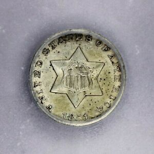 1851-P 1851 Three Cent Silver ICG MS60 Details