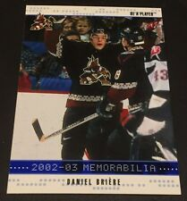 DANIEL BRIERE 2002-03 BAP Memorabilia SAPPHIRE Parallel SP  #16 Ser #d /100 Made