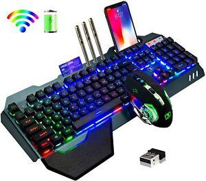 Teclado Y Mouse Inalambrico Gamer Razer Croma Gaming Iluminacion Teclas Para Pc
