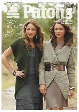 VAT Free Knitting PATTERN ONLY Patons Ladies Jackets Vests 4 Styles 3741 New
