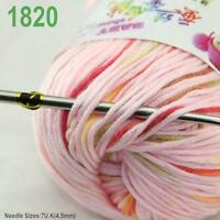 Sale New 1 ball x50gr Cashmere Silk Velvet Baby Children Hand Knitting Yarn 20