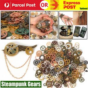 100g Assorted Gear Steampunk Cogs Gears Pendants Clock Wheels Gear Mix DIY Craft
