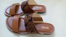 Michael Kors Brown Python Flats sandals shoes US 7.5