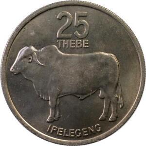 BOTSWANA - 25 THEBE - 1976 - UNC - ZEBU