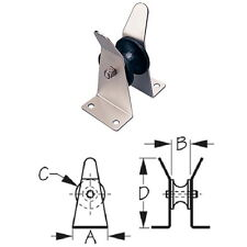 Small Stainless Steel Platform Mount Bow Anchor Roller for Boats