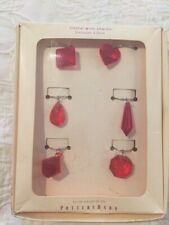 Pottery Barn breloques & verre Red Crystal Wine Charms - set of 6